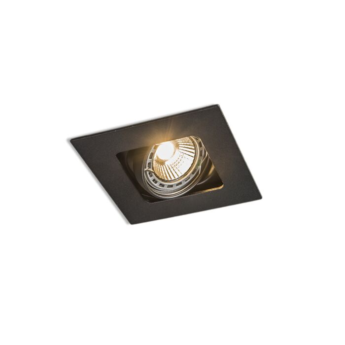 Foco-empotrado-cuadrado-negro-orientable---ARTEMIS