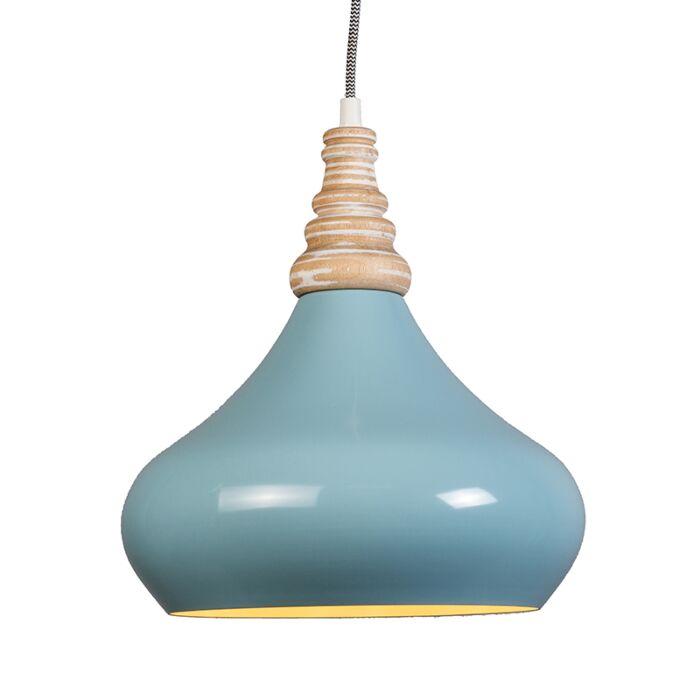 Lámpara-colgante-MAPLE-azul-claro