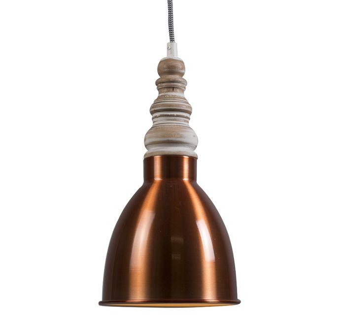Lámpara-colgante-OAK-cobre