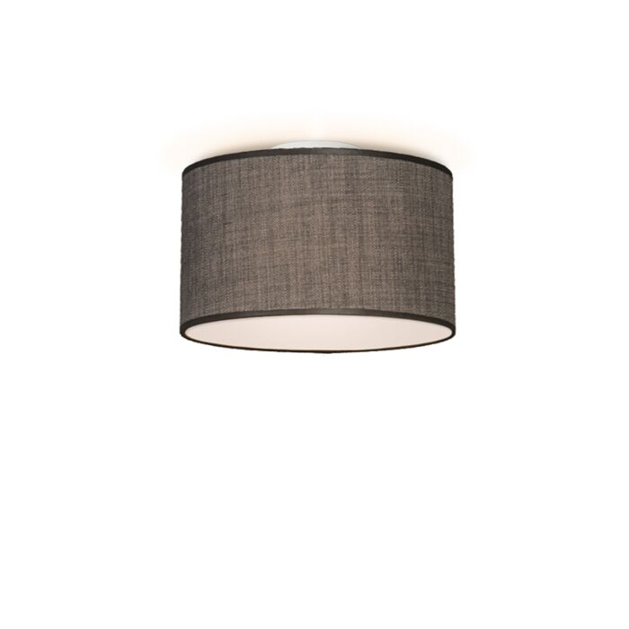 Plafón-DRUM-35-marrón-grisáceo