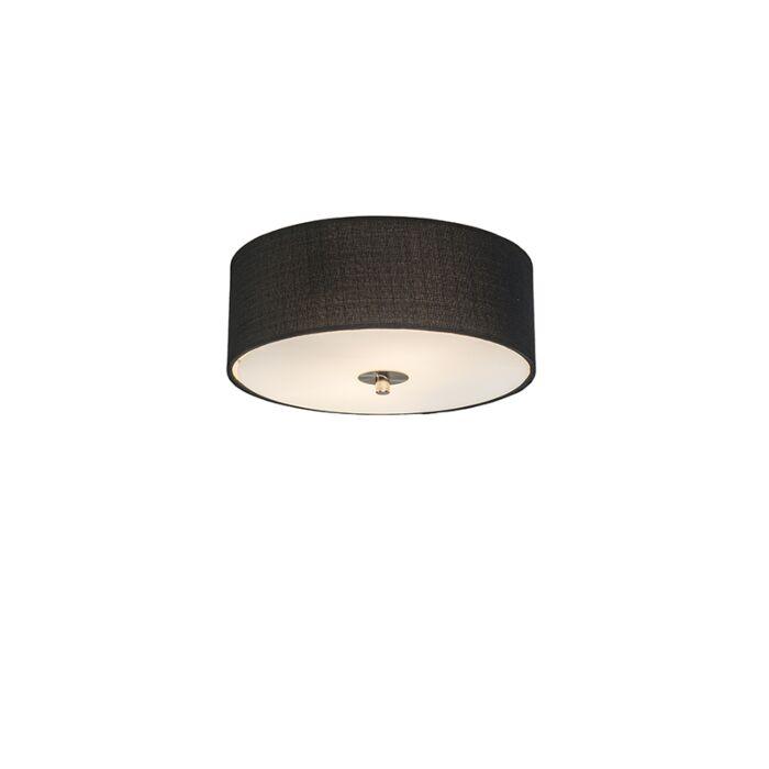Plafón-rústico-negro-30-cm---DRUM-Jute