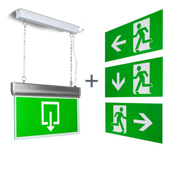 Lámpara-colgante-salida-de-emergencia-moderna-LED---EMERGENCY