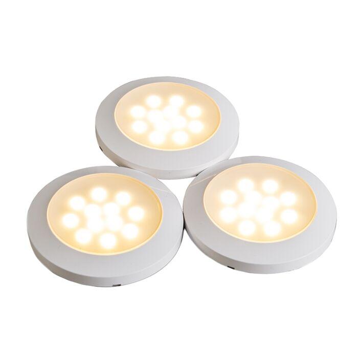 Juego-3-focos-de-superficie-CABINET-3-x-LED-blanco