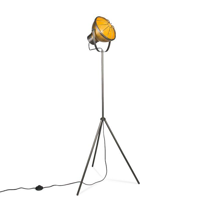 Lámpara-de-pie-ORBITA-dorada