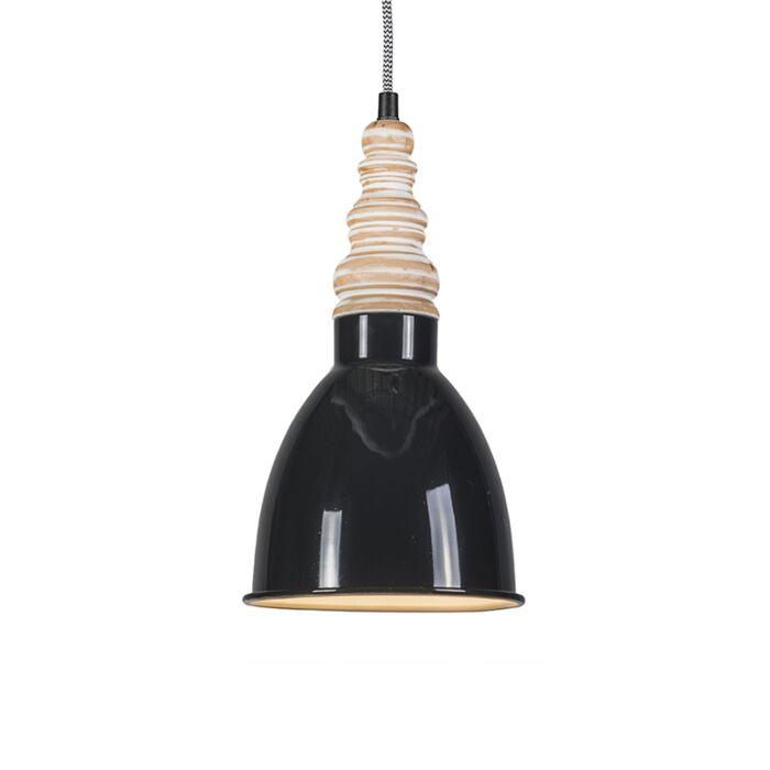 Lámpara-colgante-OAK-negra