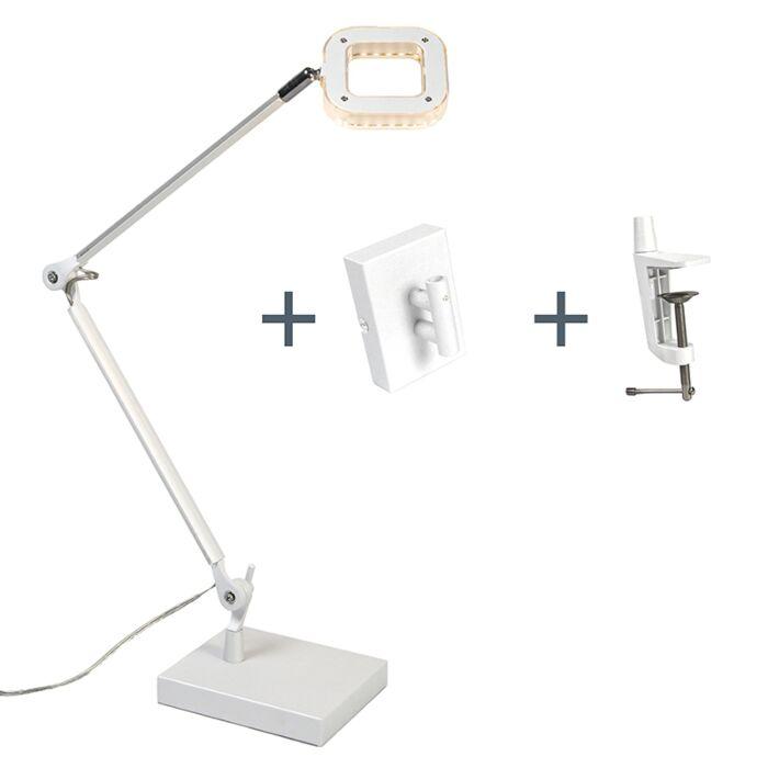 Lámpara-de-mesa-/-aplique-OFICINA-blanca