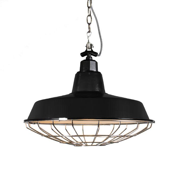 Lámpara-colgante-STRIJP-L-negra