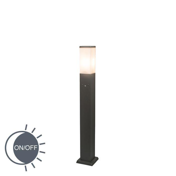 Baliza-MALIOS-80-gris-oscuro-con-sensor-de-luz
