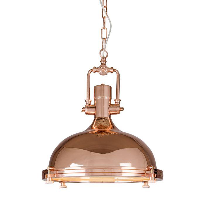 Lámpara-colgante-SOLID-cobre