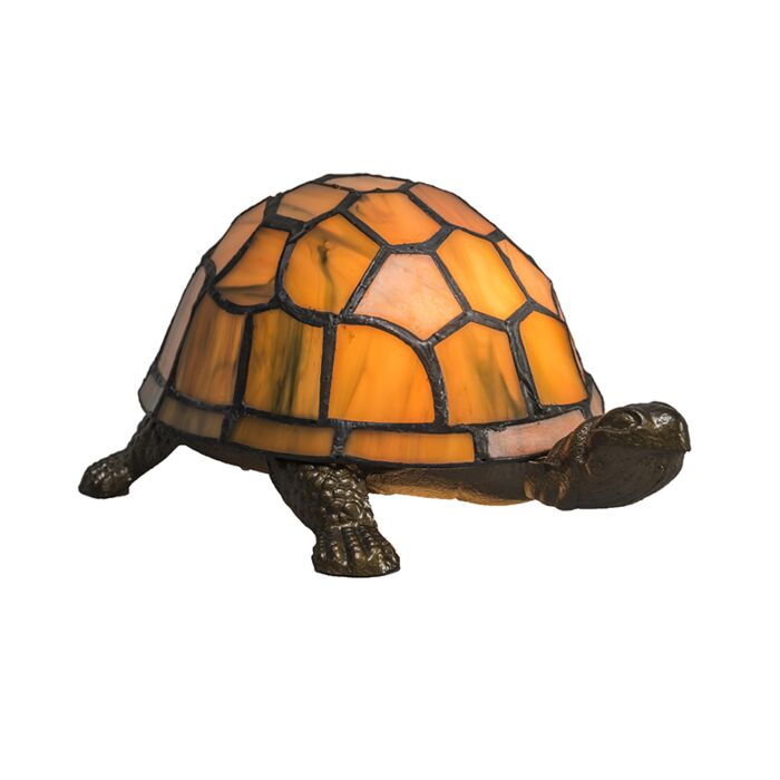 Lámpara-de-mesa-TIFFANY-Turtle-ámbar