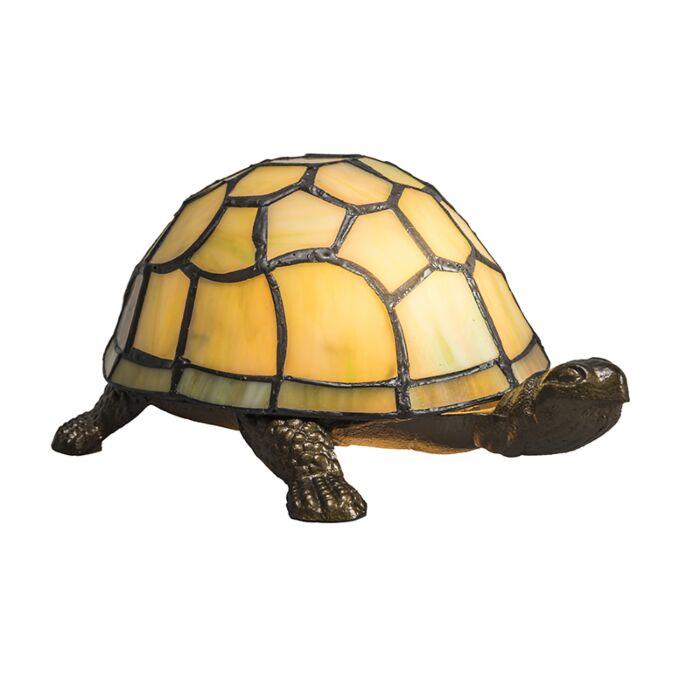Lámpara-de-mesa-TIFFANY-Turtle-amarillo