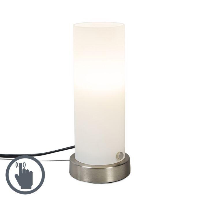 Lámpara-de-mesa-TUBE-táctil-blanco