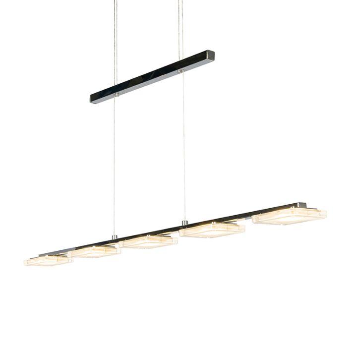 Lámpara-colgante-YOYO-5-cromo