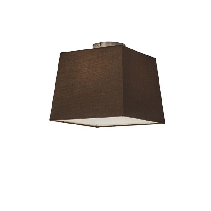 Plafón-COMBI-30cm-piramidal-marrón