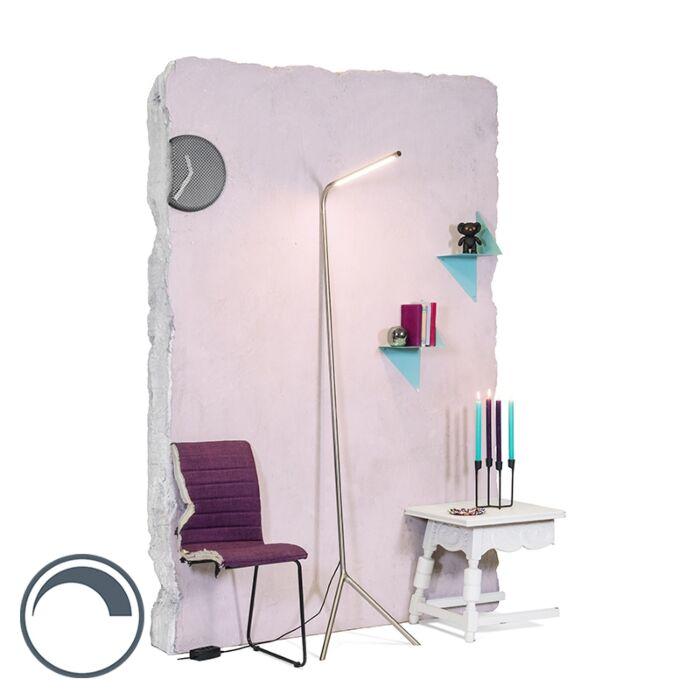 Lámpara-de-pie-diseño-acero-LED---LAZY-