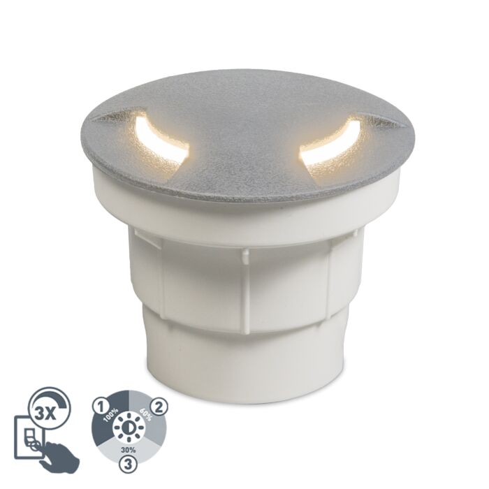Foco-de-suelo-exterior-moderno-gris-LED-IP67---CECI-2