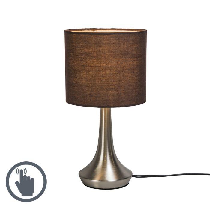 Lámpara-de-mesa-MILO-1-redonda-marrón