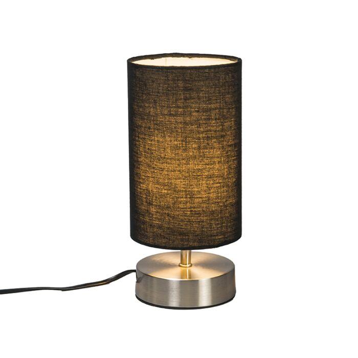 Lámpara-de-mesa-moderna-acero-negra---MILO-2