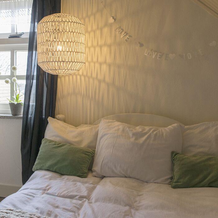 Lámpara-colgante-retro-blanca-40cm---LINA-Hive-40