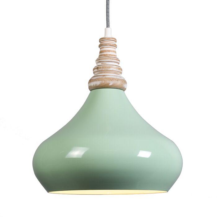 Lámpara-colgante-MAPLE-verde-menta