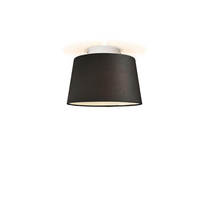 Plafón-TON-cónico-30-negro