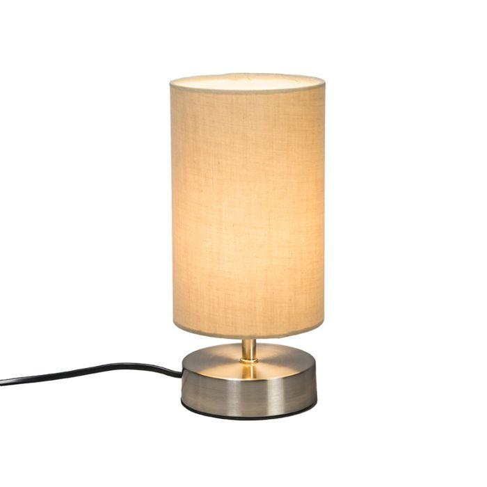 Lámpara-de-mesa-MILO-2-redonda-beige