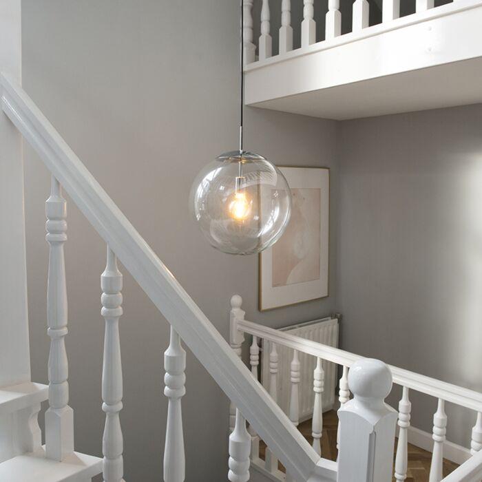 Lámpara-colgante-escandinava-cromo-cristal-transparente---BALL-40
