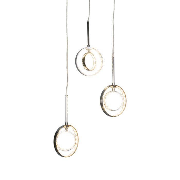 Lámpara-colgante-HALO-3-cromo
