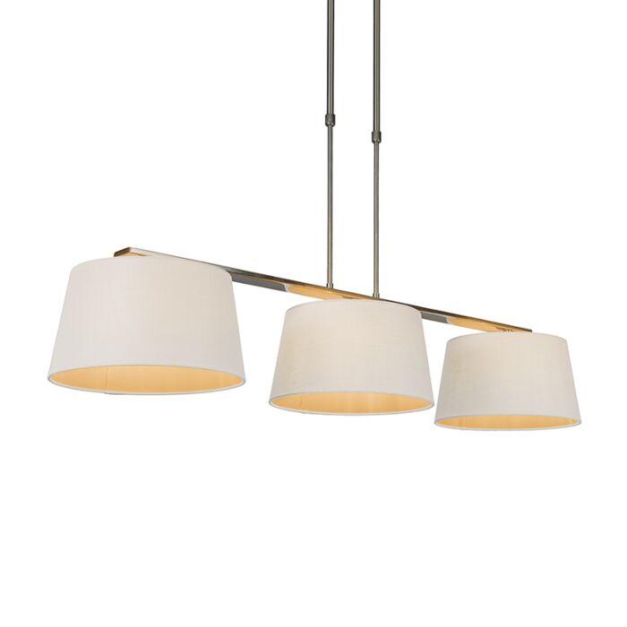 Lámpara-colgante-COMBI-Delux-3-pantallas-cónicas-30cm-blancas