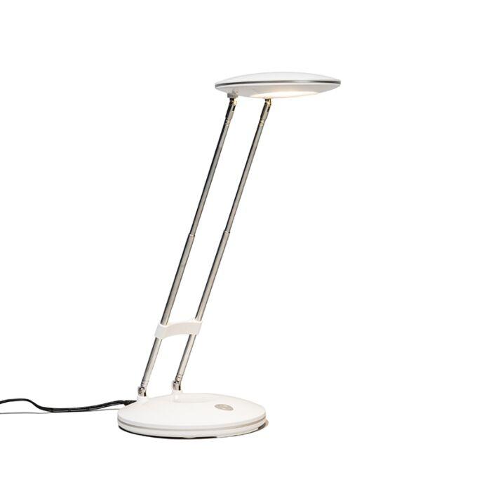 Lámpara-de-mesa-DISCUS-blanca