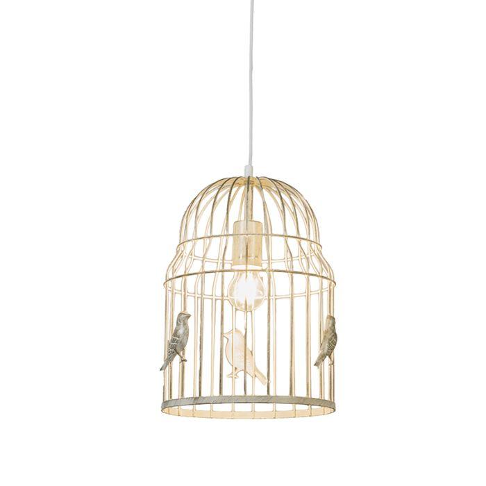Lámpara-colgante-BIRDCAGE-blanco