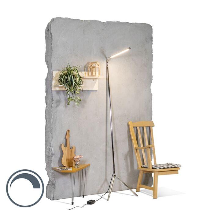 Lámpara-de-pie-diseño-cromo-LED---LAZY-Lamp