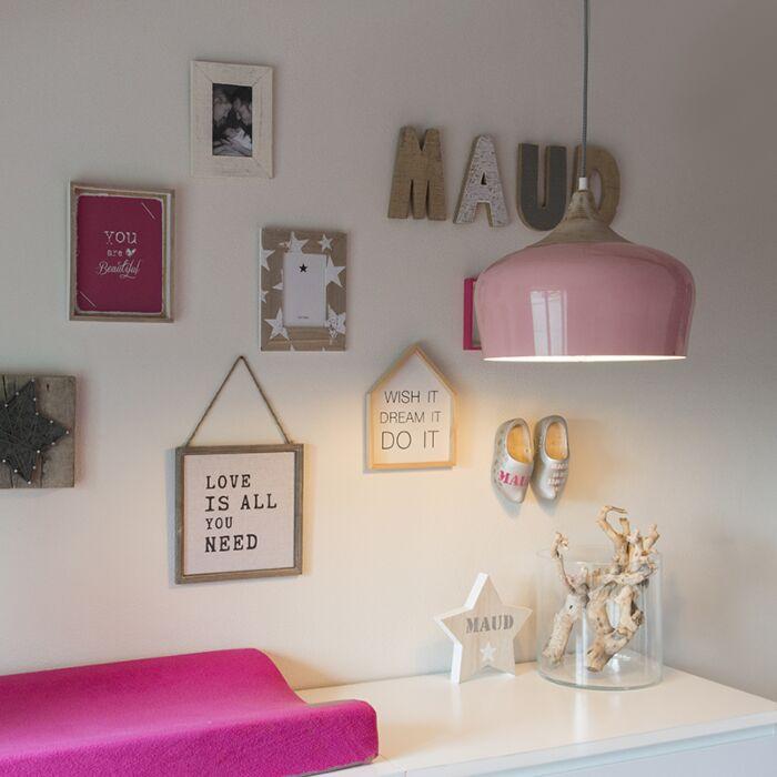 Lámpara-colgante-PINE-rosa