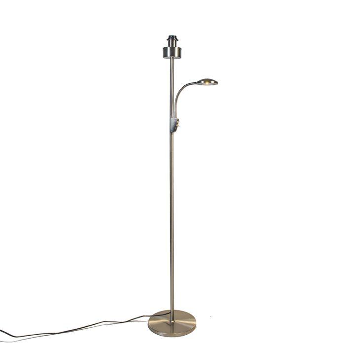 Lámpara-de-pie-TRENTO-COMBI-acero-sin-pantalla
