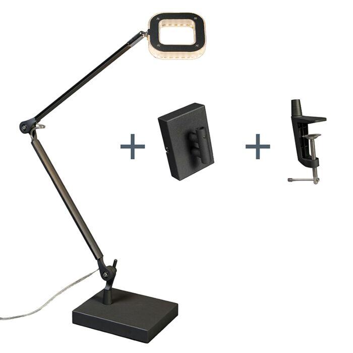 Lámpara-de-mesa-/-aplique-OFICINA-negra