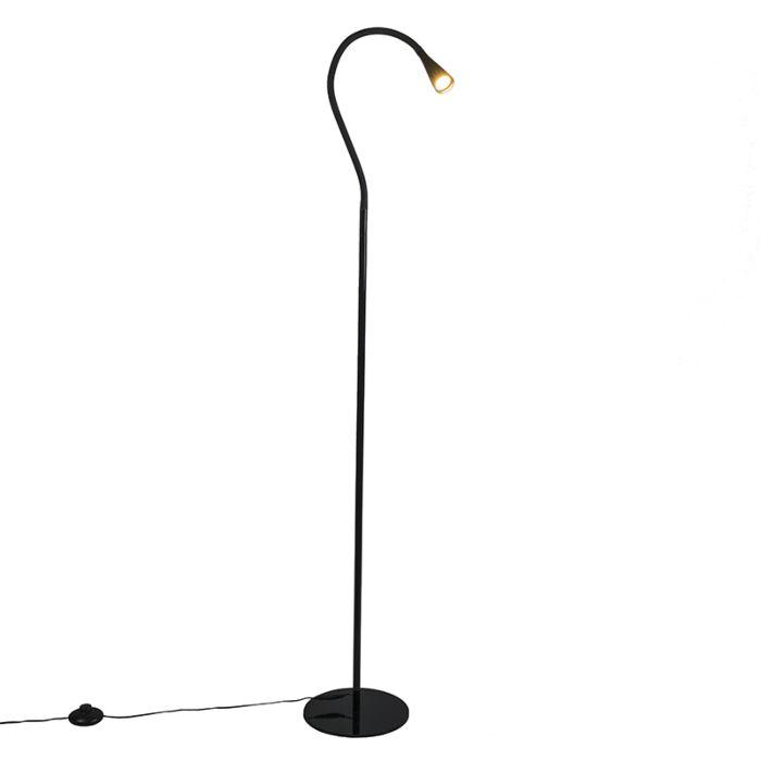 Lámpara-de-pie-SWAN-negra-LED