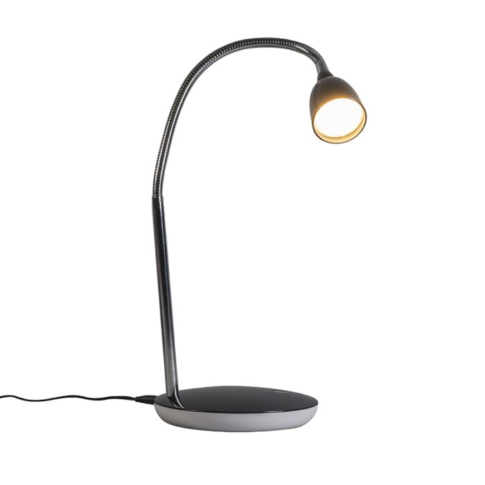 Lámpara-de-mesa-FLEX-negra-LED