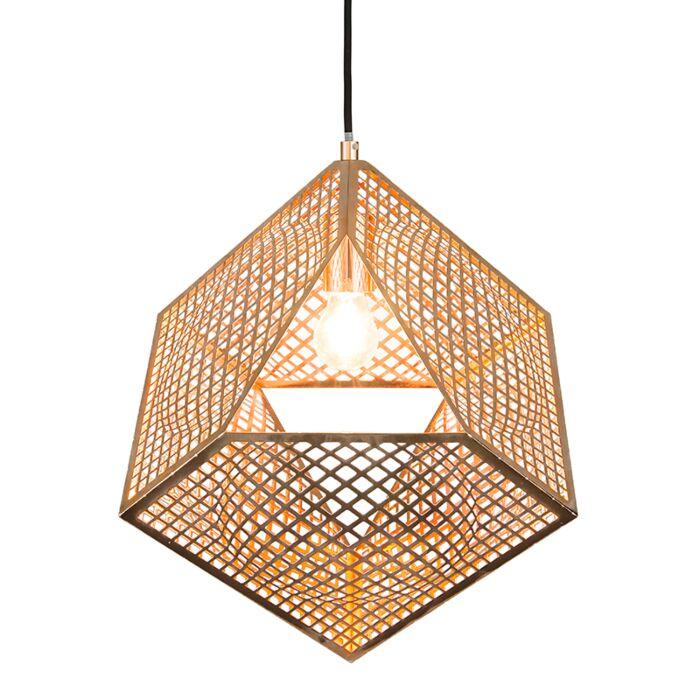 Lámpara-colgante-BASKET-cobre