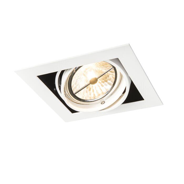 Foco-empotrado-cuadrado-blanco-orientable-1-luz---ONEON-111-1