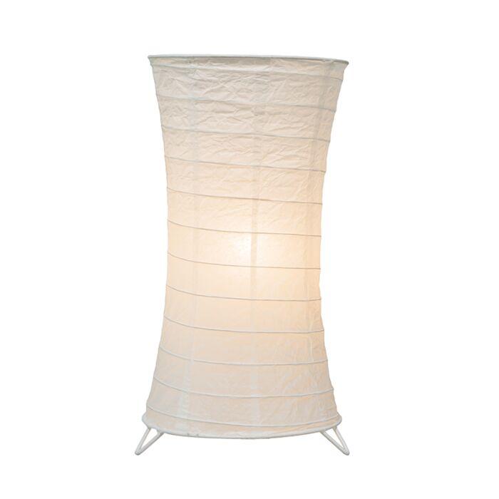 Lámpara-de-mesa-PAPEL-blanca