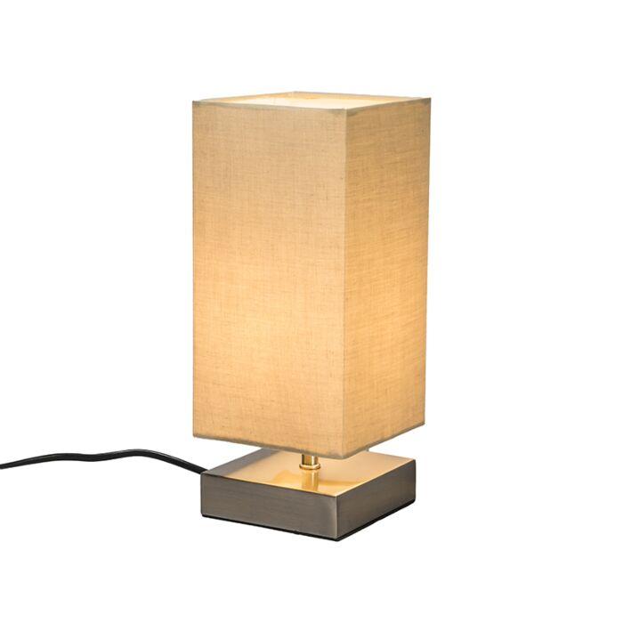 Lámpara-de-mesa-MILO-cuadrada-beige