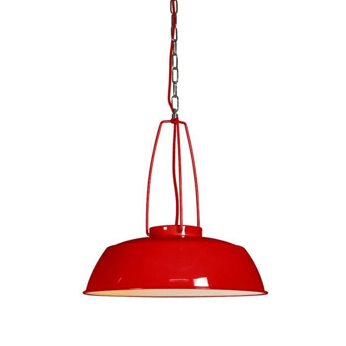 Lámpara-colgante-USINE-rojo