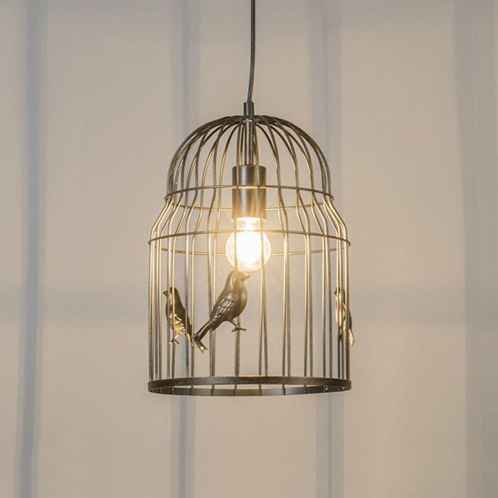 Lámpara-colgante-Art-Déco-oxidado---BIRDCAGE