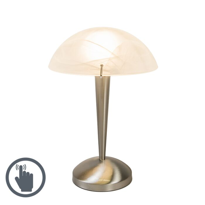 Lámpara-de-mesa-BOLETUM-táctil-acero