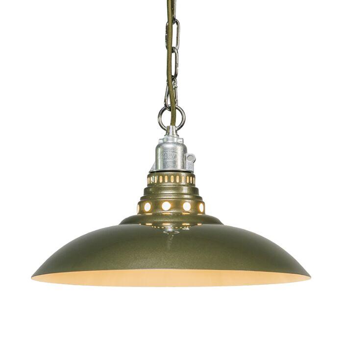 Lámpara-colgante-STRATUM-verde-grisáceo