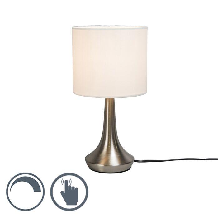 Lámpara-de-mesa-MILO-1-redonda-blanca
