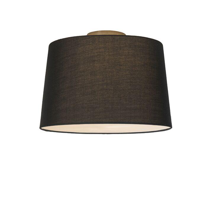 Plafón-COMBI-40cm-negro-con-difusor