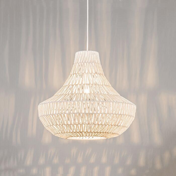 Lámpara-colgante-retro-blanca-50cm---LINA-Cono-50