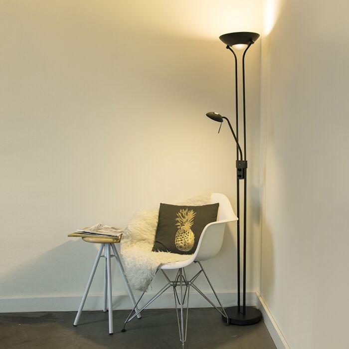 Lámpara-de-pie-negra-flexo-regulador-LED---DIVA-2