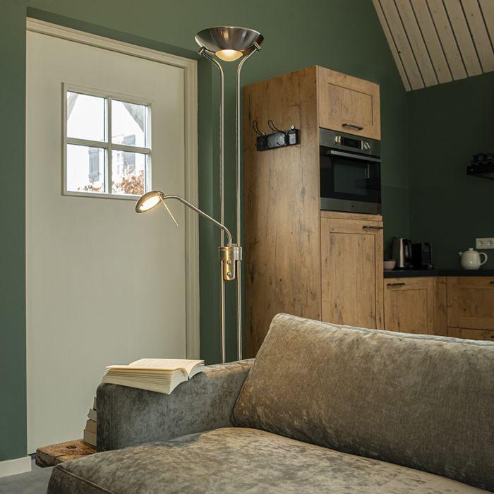 Lámpara-de-pie-en-acero-con-lámpara-de-lectura-con-LED-y-dimmer---Diva-2
